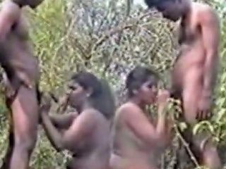 Slutty And Filthy Bitches Get Fucked By The Guys In Orgy Party
