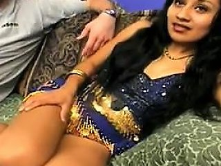Hairy Indian In An Interracial Threesome