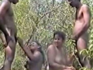 Company Of Horny Indian People Organized A Group Sex