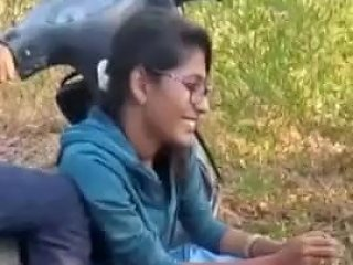 Indian College Couple Kiss N Grop While Friends Record
