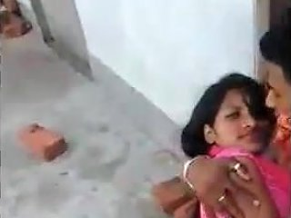 Desi Lover Kissing And Rubbing Passionately Neighbour