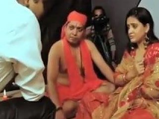 Cute And Shy Indian Lady Enjoying With Indian Baba